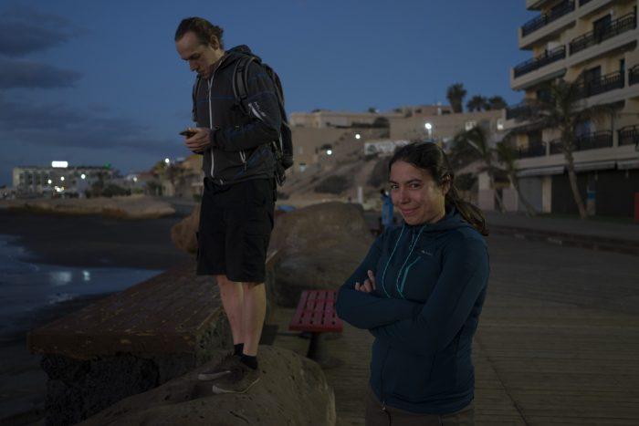 Teneryfa. El Medano. Plaża. Playa. Dziewczyna. Girl
