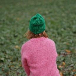 zielona czapka 100% wełna